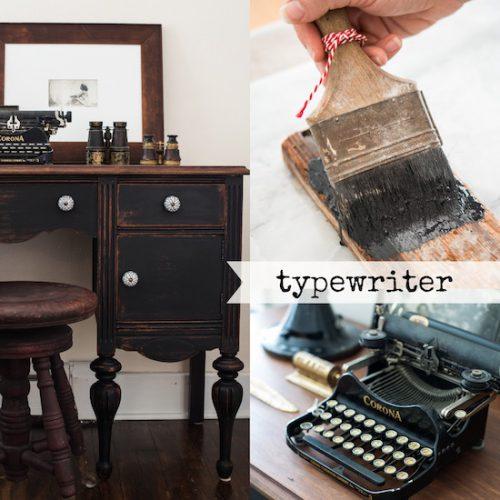 Typewriter heißt das warme Schwarz, welches zu unseren Milk Paint Farben gehört
