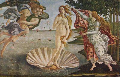 Das berühmte Gemälde von Boticelli