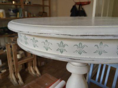 Gründerzeit Tischchen Verzierung
